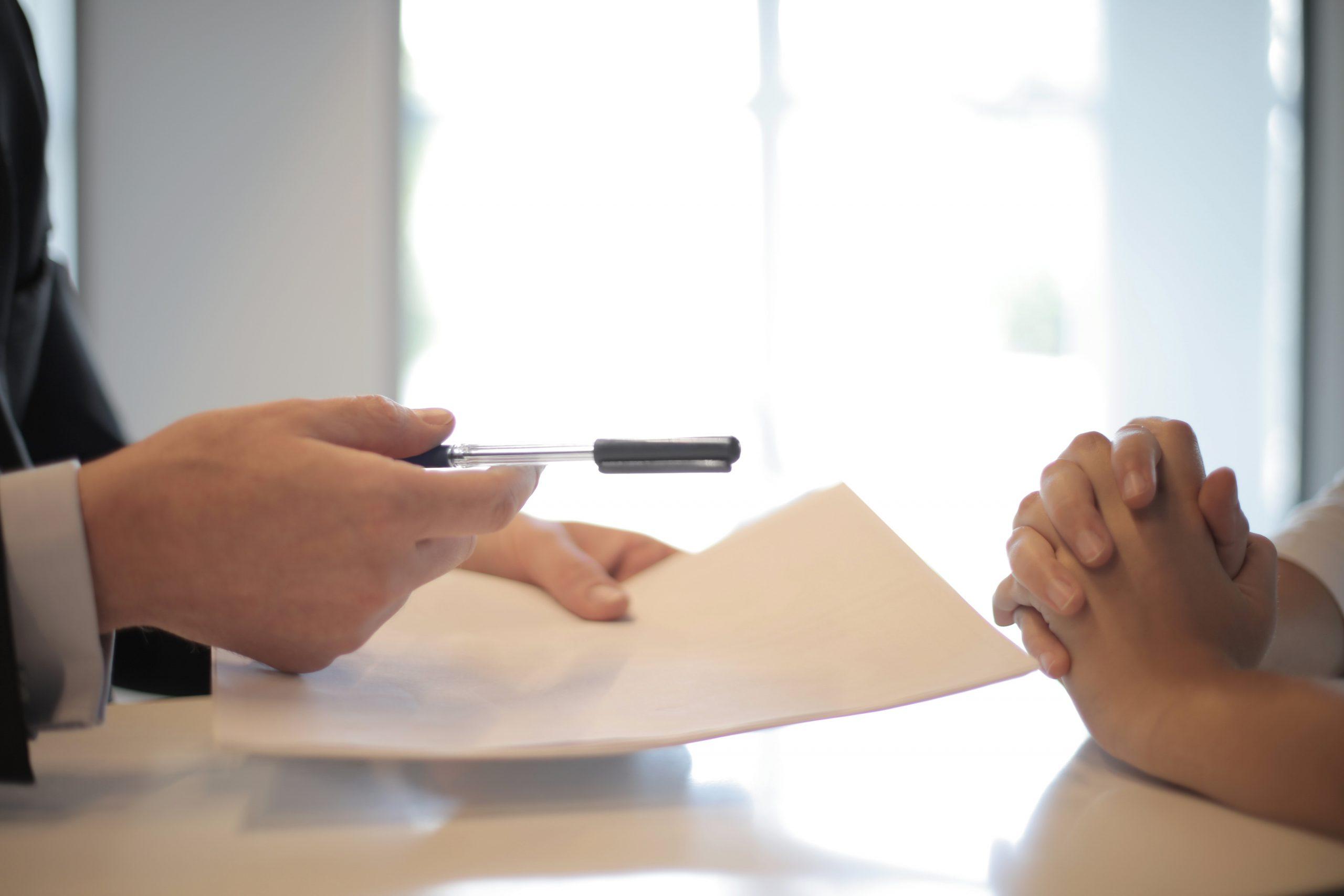 Tekenen van een contract